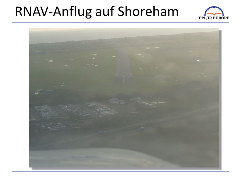 RNAV-Anflug auf Shoreham