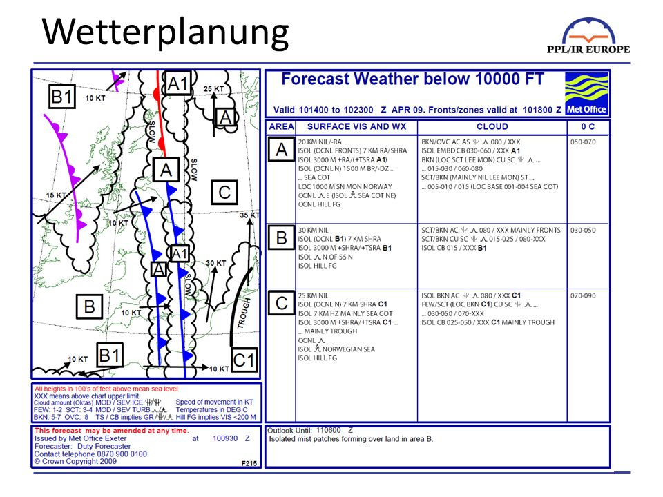 Wetterplanung There is almost an unlimited amount of weather information available on the Internet.