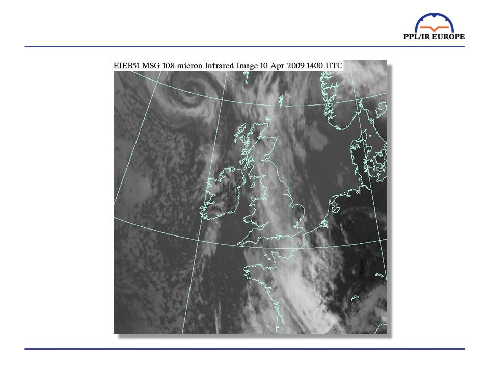Satellite images can be helpful to guess where the cloud tops are …