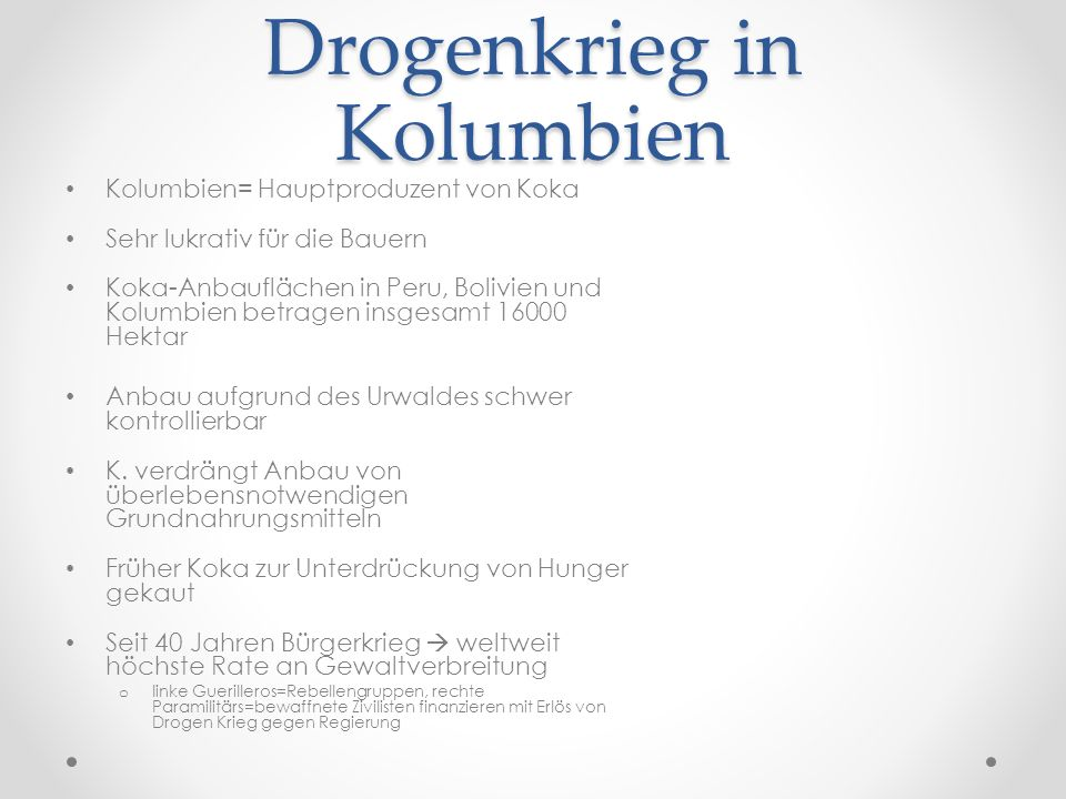 Drogenkrieg in Kolumbien
