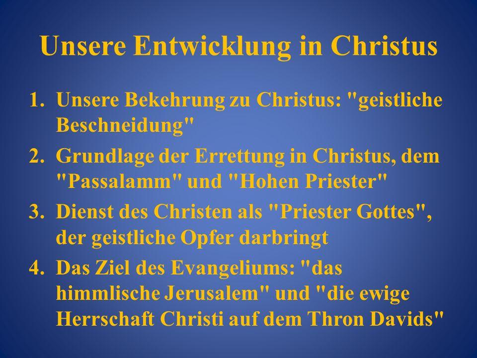 Unsere Entwicklung in Christus