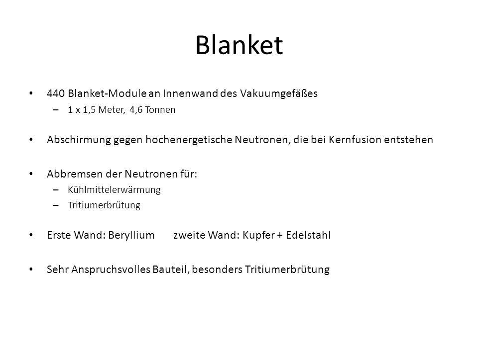 Blanket 440 Blanket-Module an Innenwand des Vakuumgefäßes