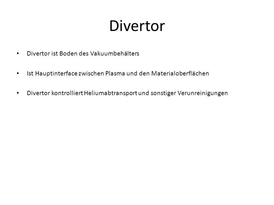 Divertor Divertor ist Boden des Vakuumbehälters