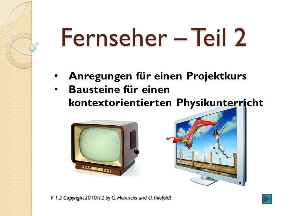 Fernseher: Geräte und Signale I