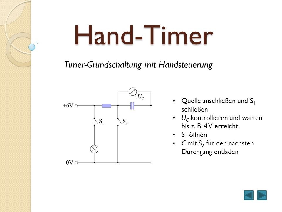 Hand-Timer Timer-Grundschaltung mit Handsteuerung