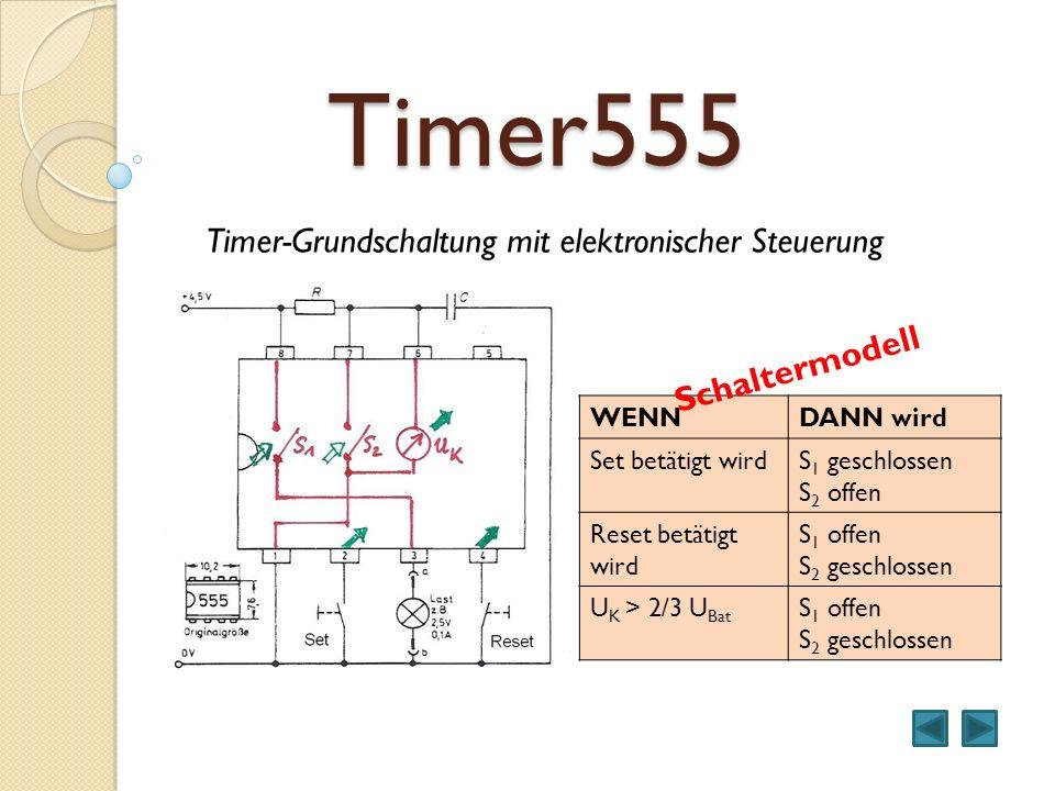 Timer555 Timer-Grundschaltung mit elektronischer Steuerung