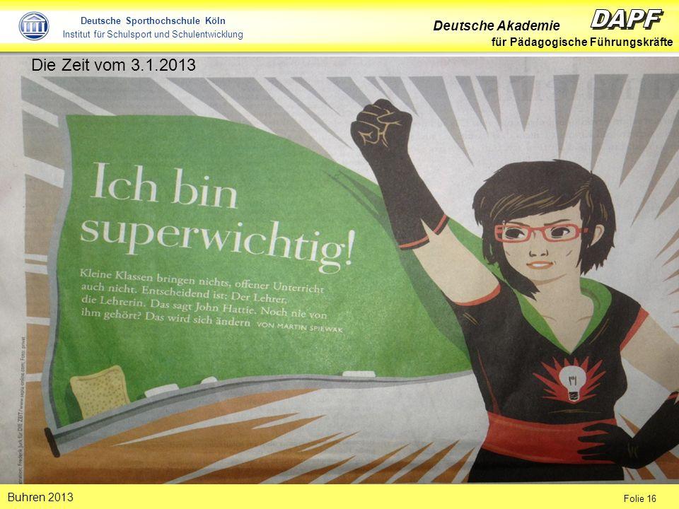 Die Zeit vom 3.1.2013