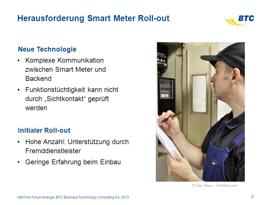 Herausforderung Smart Meter Roll-out