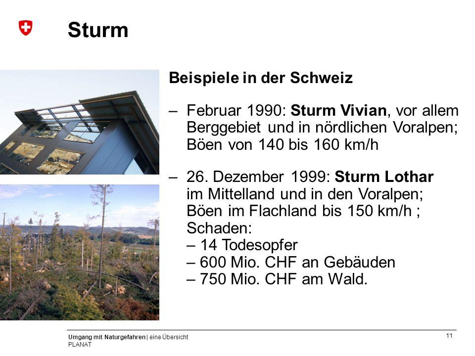Sturm Beispiele in der Schweiz