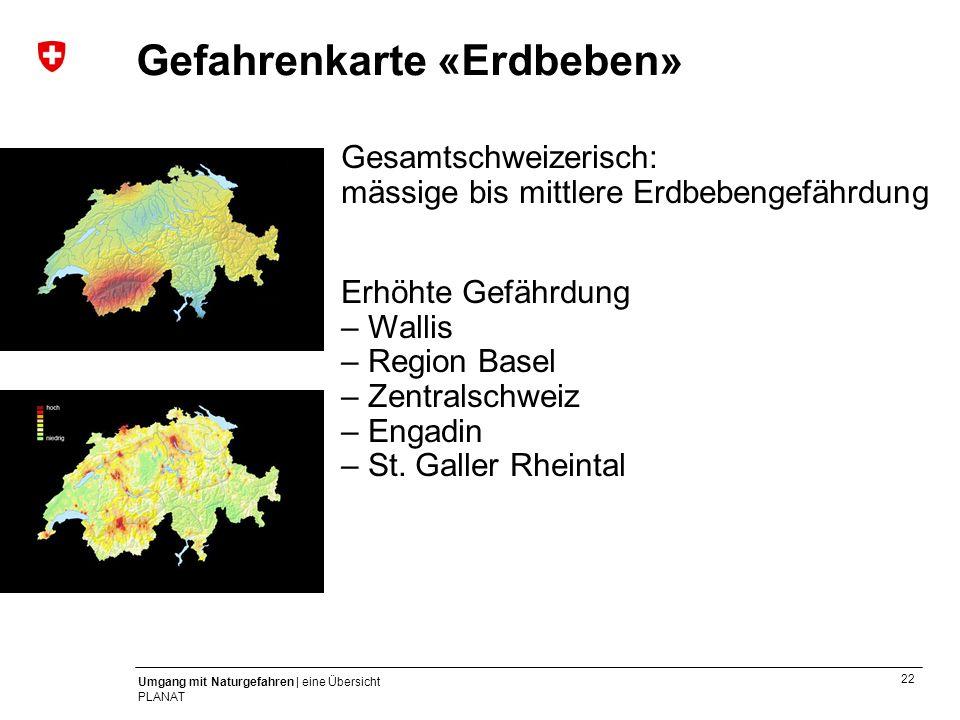 Gefahrenkarte «Erdbeben»
