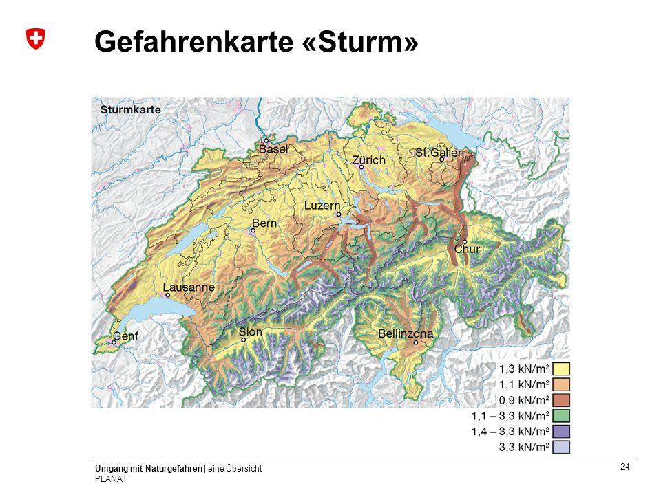 Gefahrenkarte «Sturm»