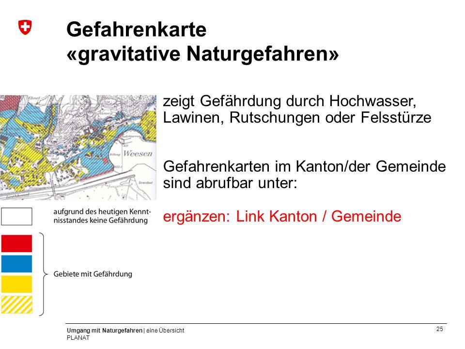 Gefahrenkarte «gravitative Naturgefahren»