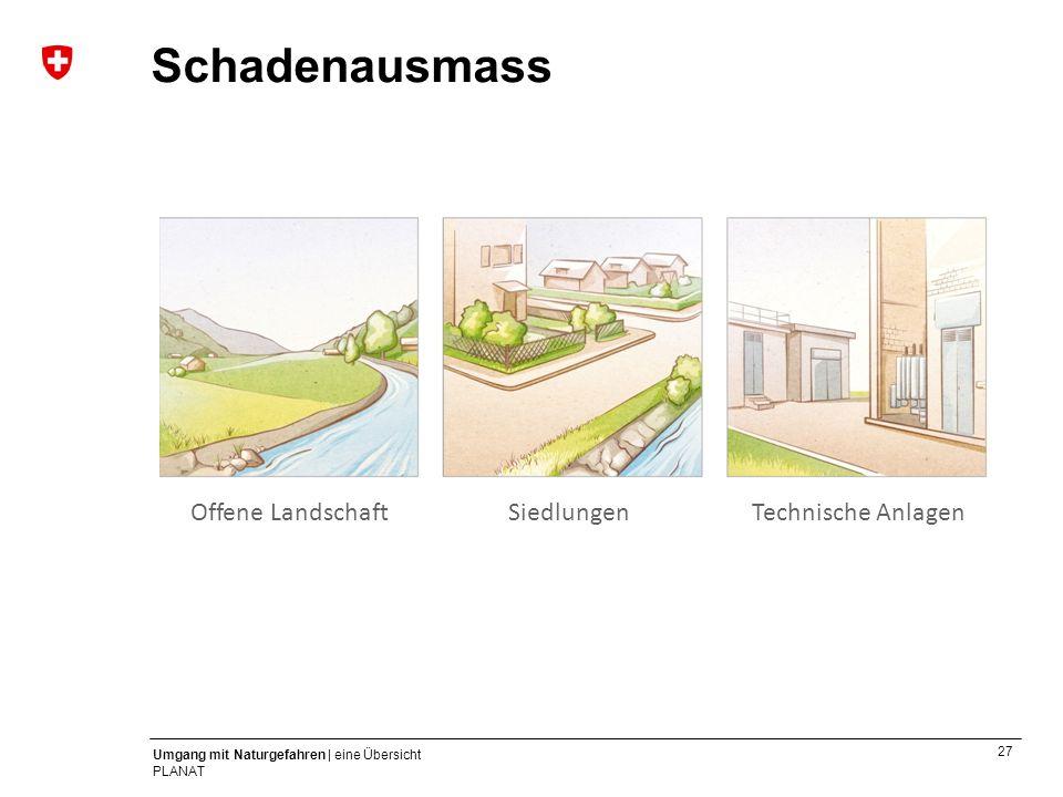 Schadenausmass Offene Landschaft Siedlungen Technische Anlagen