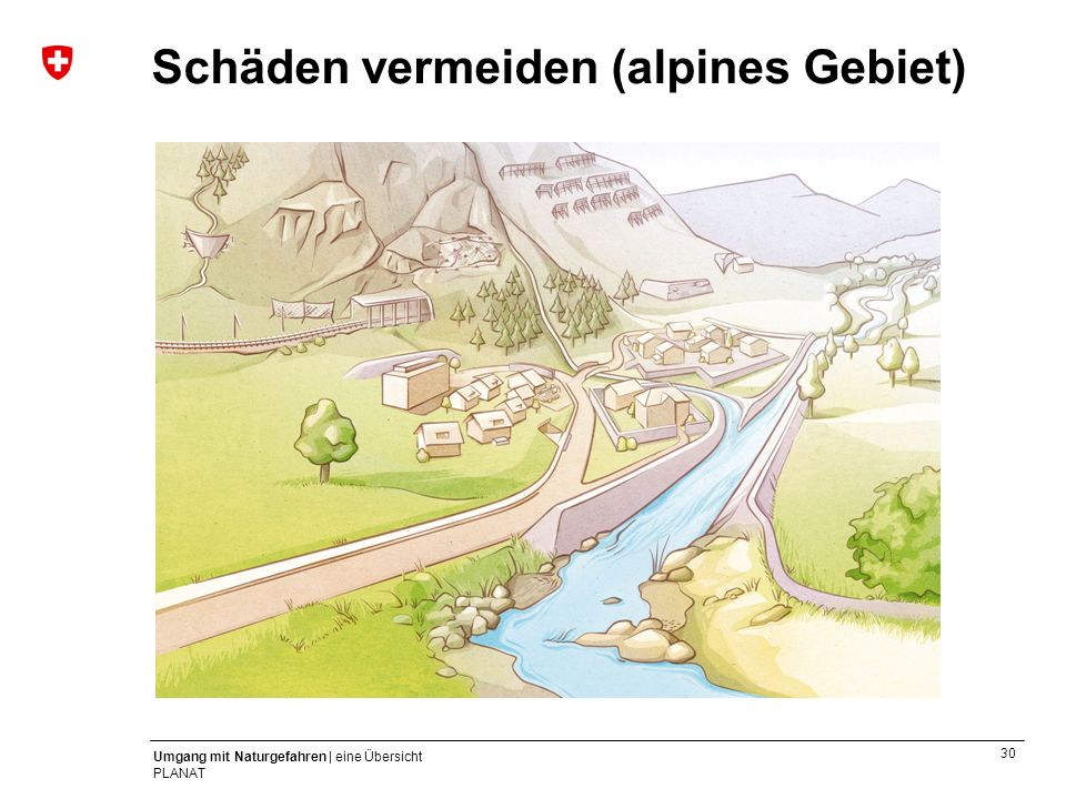 Schäden vermeiden (alpines Gebiet)