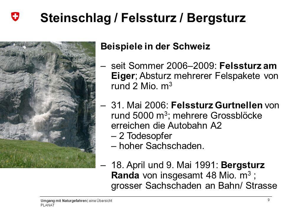 Steinschlag / Felssturz / Bergsturz