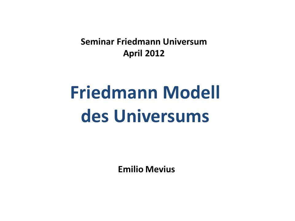 Friedmann Modell des Universums