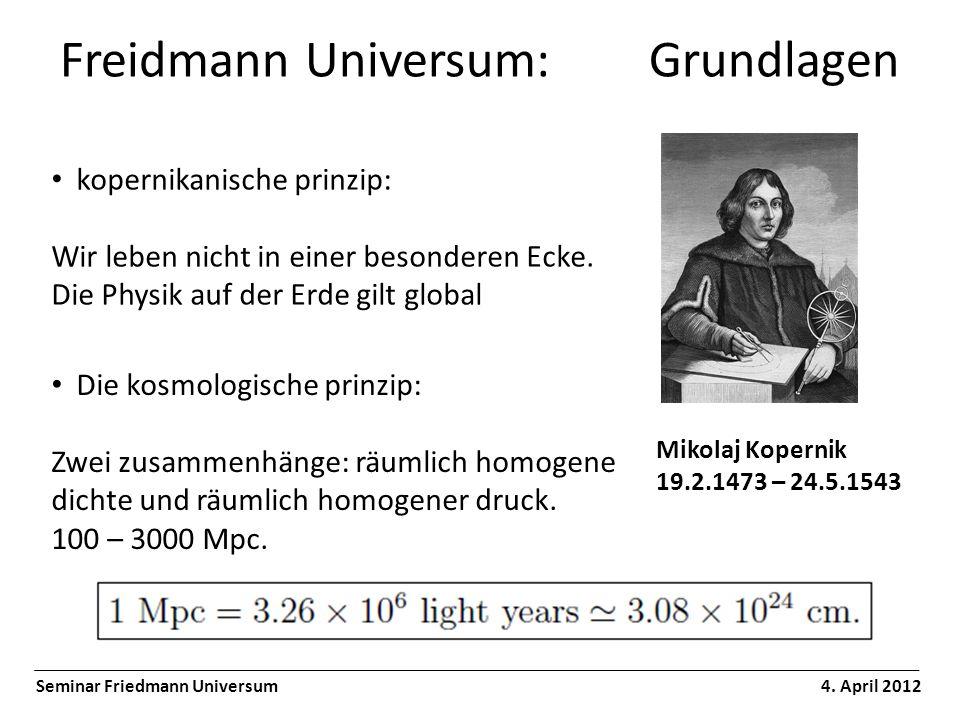 Freidmann Universum: Grundlagen