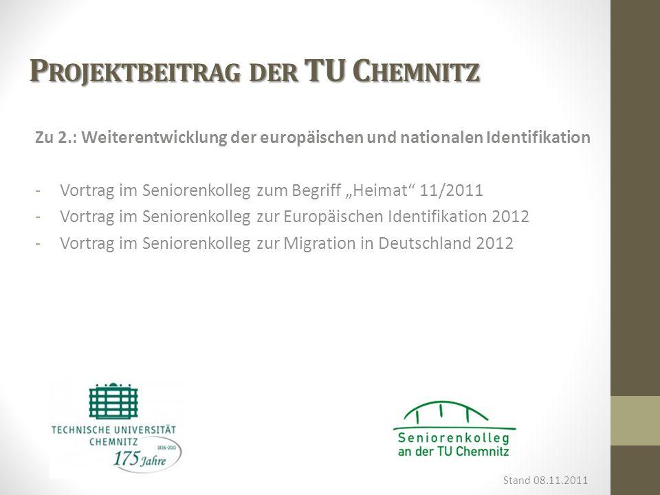 Projektbeitrag der TU Chemnitz