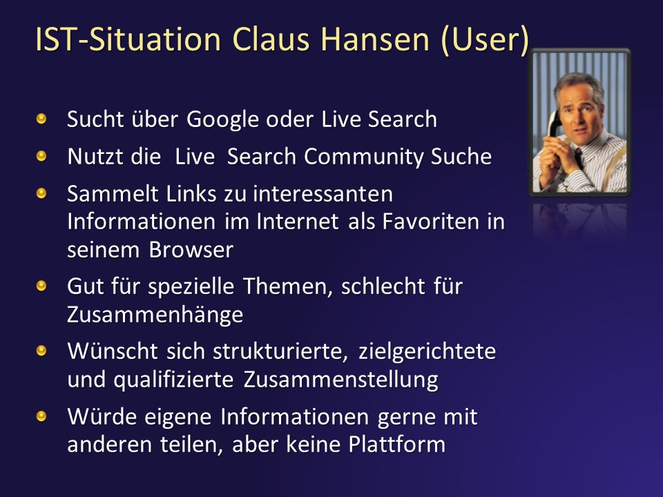 IST-Situation Claus Hansen (User)