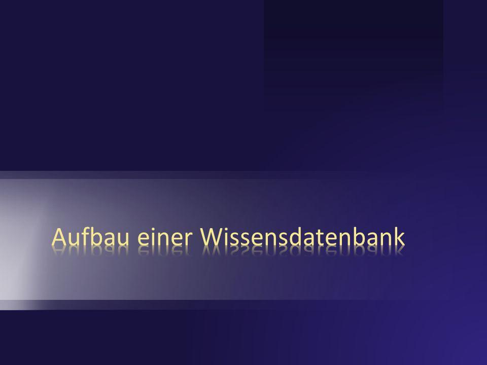 Aufbau einer Wissensdatenbank