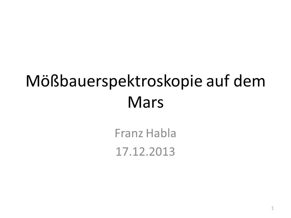 Mößbauerspektroskopie auf dem Mars