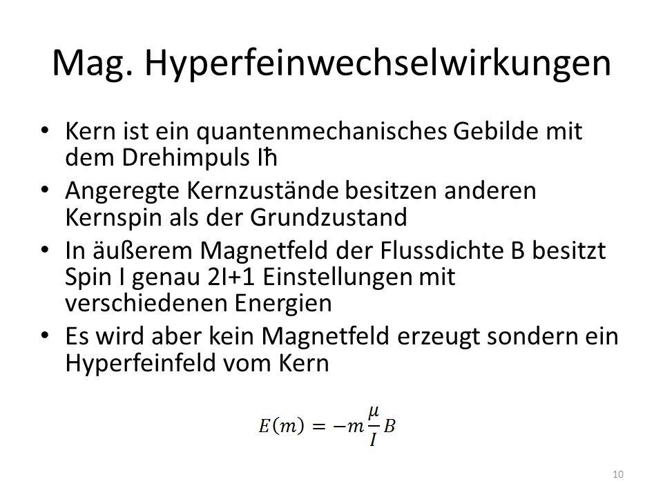 Mag. Hyperfeinwechselwirkungen