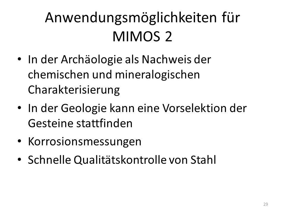 Anwendungsmöglichkeiten für MIMOS 2