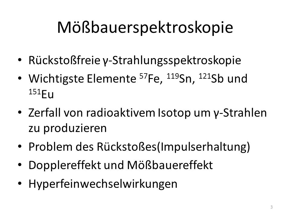 Mößbauerspektroskopie