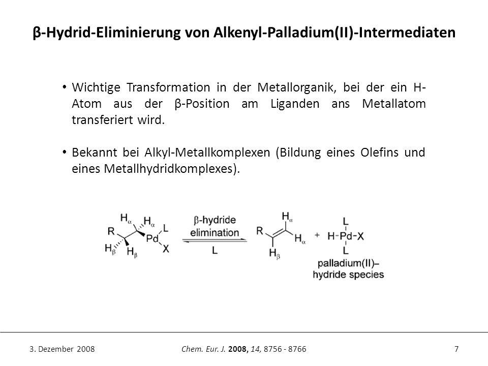 β-Hydrid-Eliminierung von Alkenyl-Palladium(II)-Intermediaten