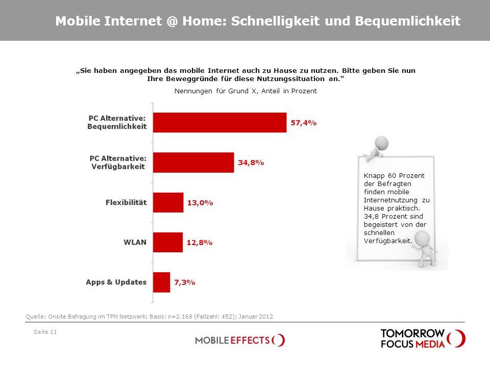 Mobile Internet @ Home: Schnelligkeit und Bequemlichkeit