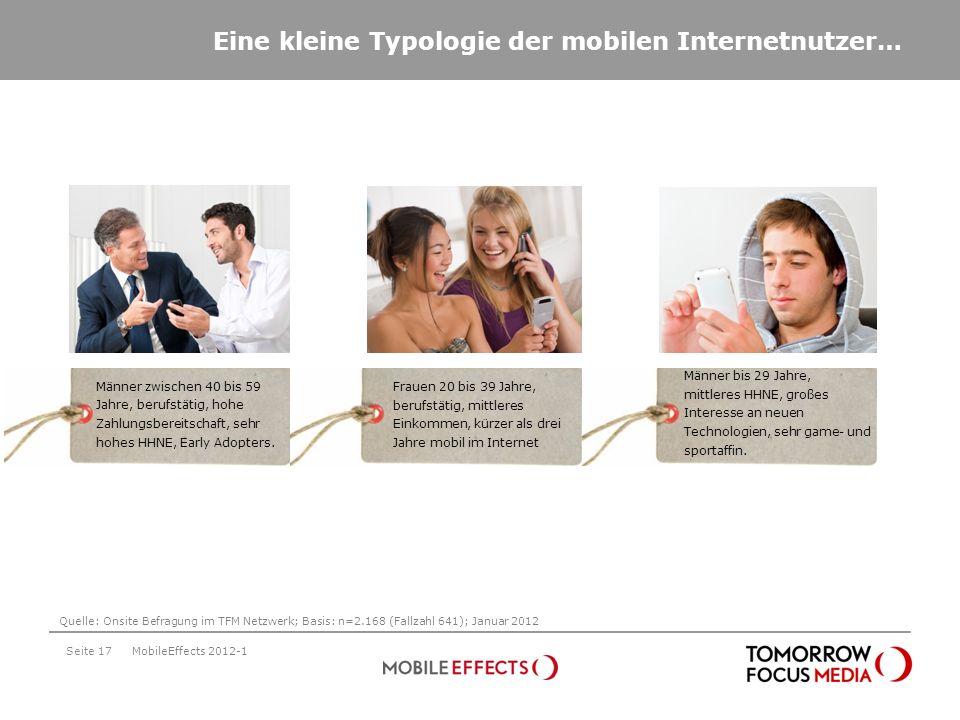 Eine kleine Typologie der mobilen Internetnutzer…