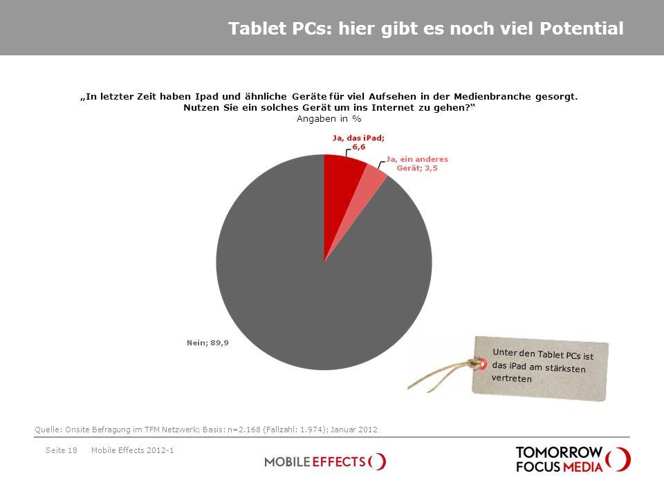 Tablet PCs: hier gibt es noch viel Potential