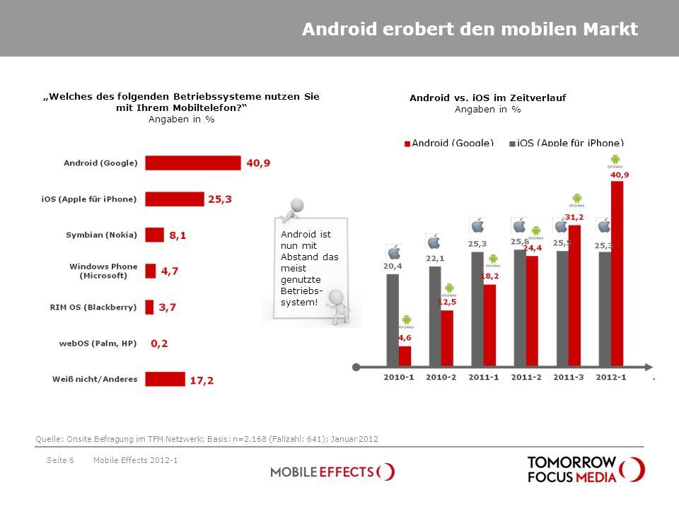 Android vs. iOS im Zeitverlauf