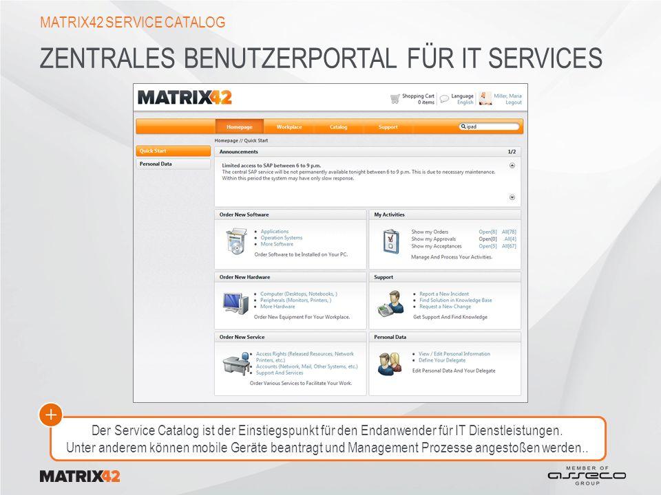 Zentrales Benutzerportal für IT Services