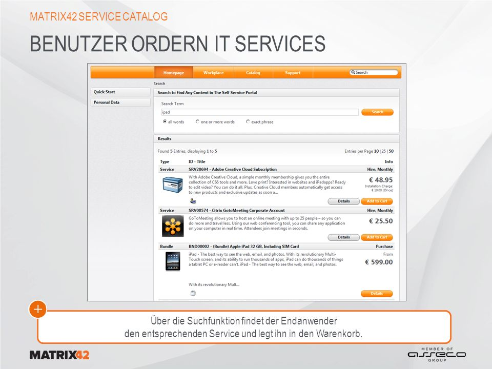Benutzer ordern IT Services