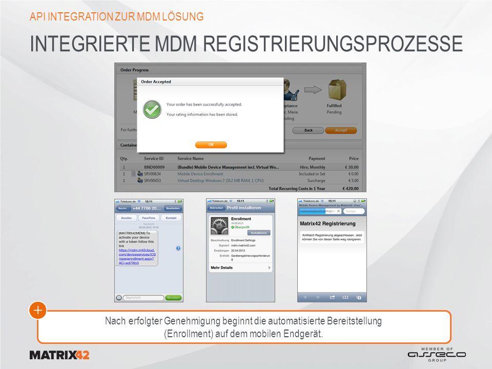 Integrierte MDM Registrierungsprozesse