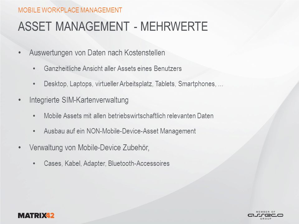 Asset Management - Mehrwerte