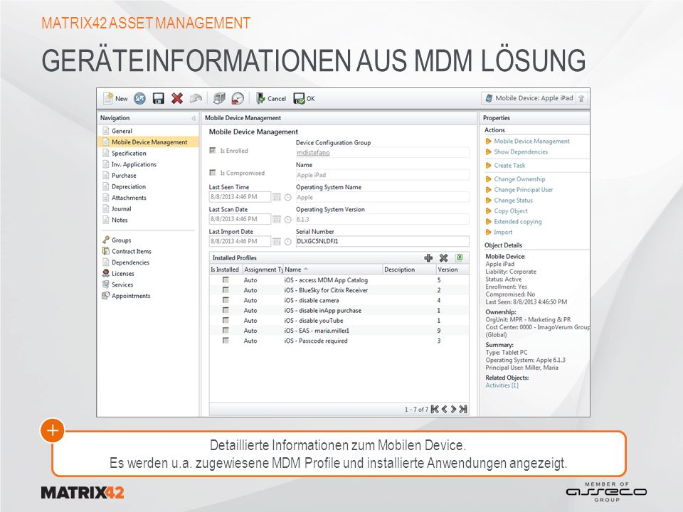 Geräteinformationen aus MDM Lösung