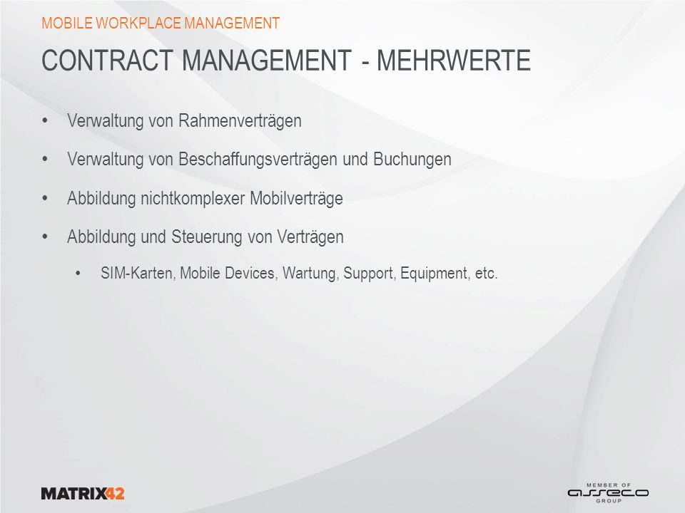 Contract Management - Mehrwerte