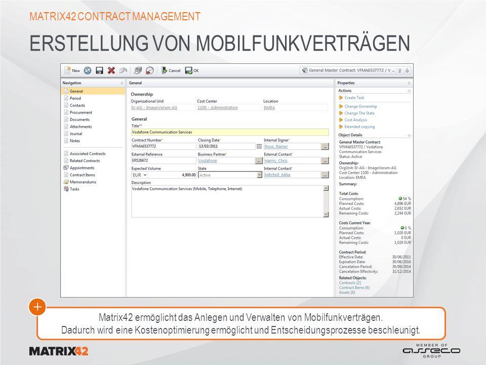 Erstellung von Mobilfunkverträgen