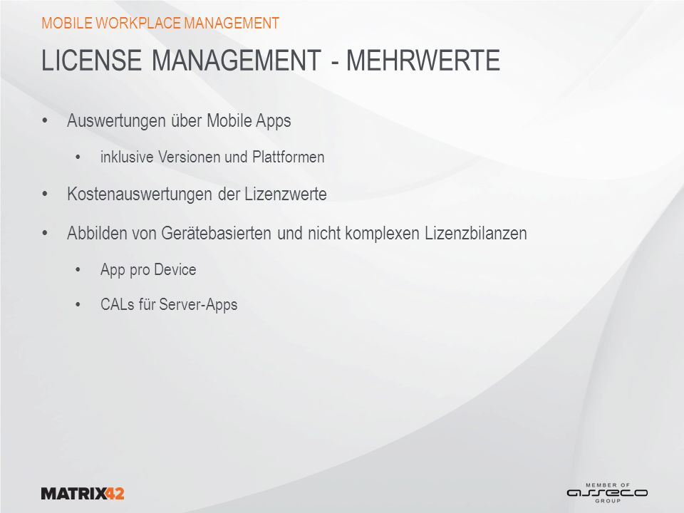 License Management - Mehrwerte