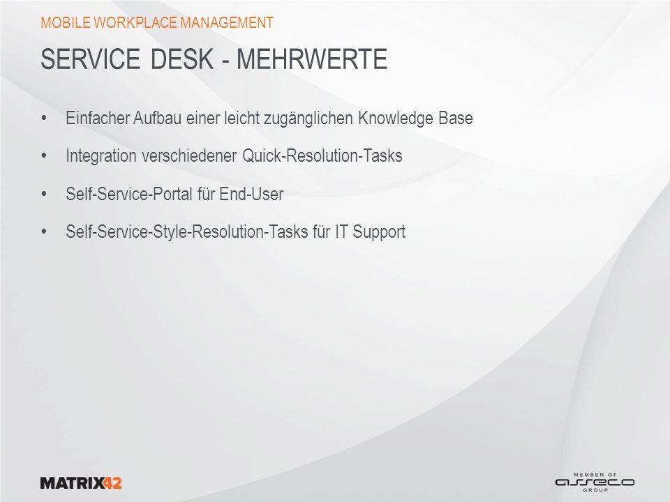 Service Desk - Mehrwerte
