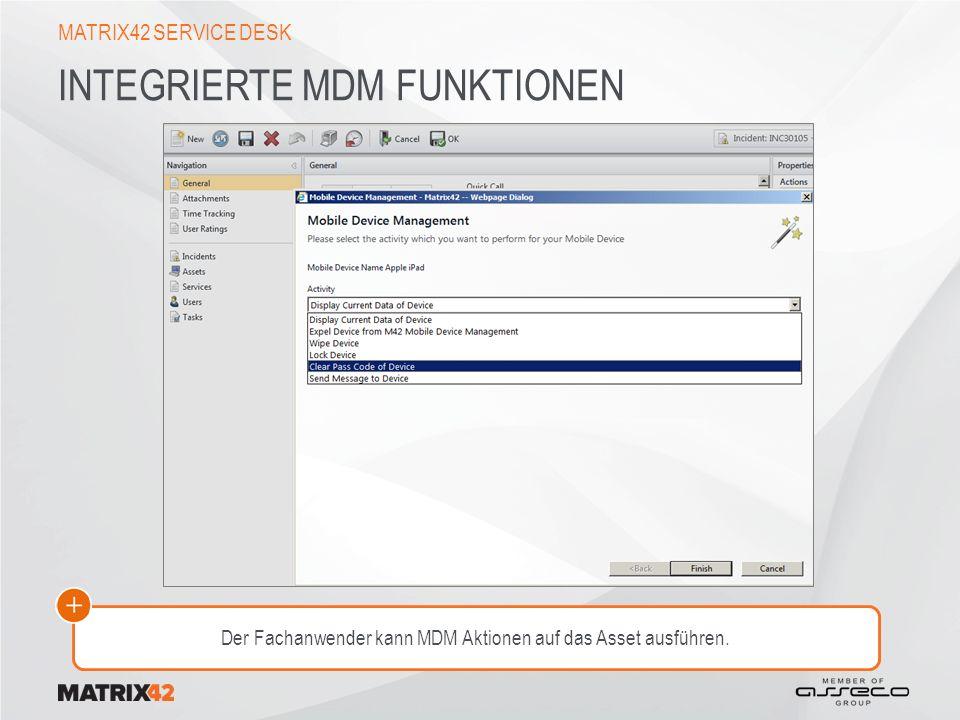 Integrierte MDM Funktionen