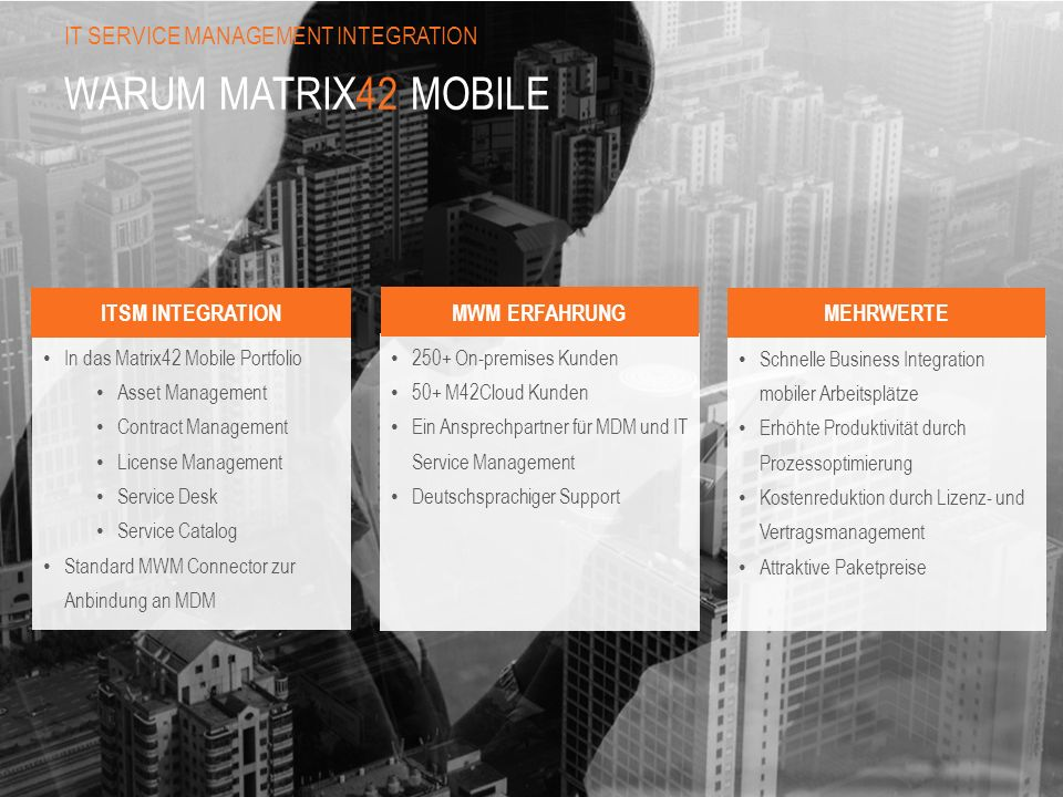 Warum Matrix42 Mobile IT Service Management Integration