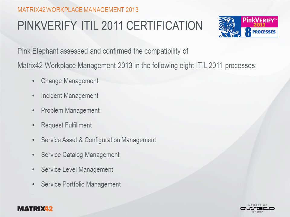 PinkVerify ITIL 2011 certification