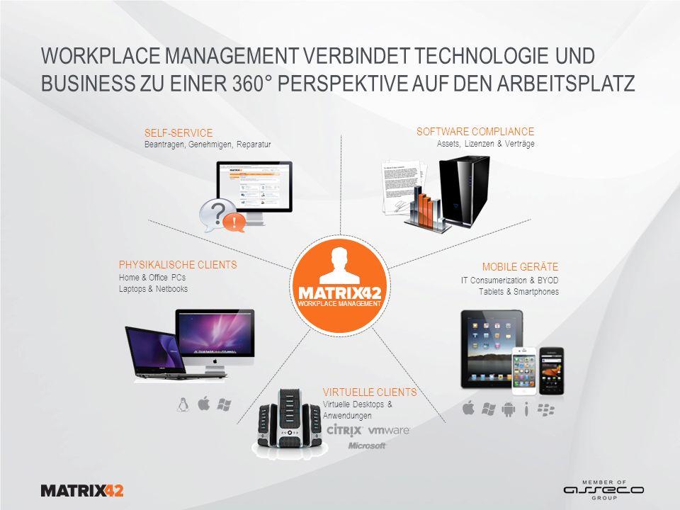 Workplace Management verbindet TECHNOLOGIE und BUSINESS zu einer 360° PERSPEKTIVE AUF DEN Arbeitsplatz