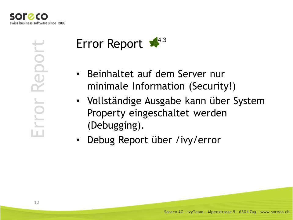Error Report Error Report