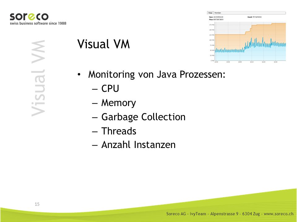 Visual VM Visual VM Monitoring von Java Prozessen: CPU Memory