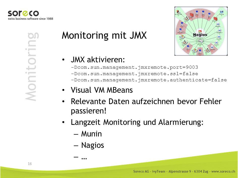 Monitoring Monitoring mit JMX