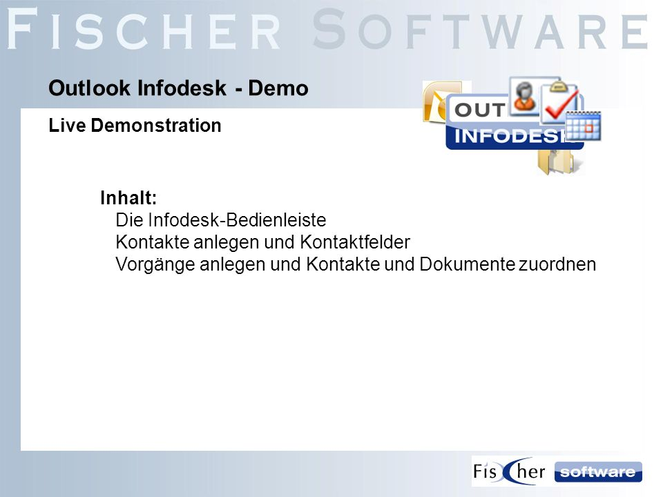 Outlook Infodesk - Demo